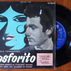 Discos de vinilo: ANTONIO FERNANDEZ, FOSFORITO - DE TANTO POR TI LLORAR +3 (PHILIPS 1956) SINGLE EP. Lote 85886204