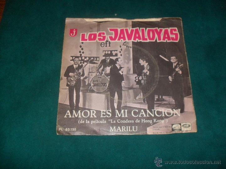 LOS JAVALOYAS, AMOR ES MI CANCION. EMI 1967 (Música - Discos - Singles Vinilo - Grupos Españoles 50 y 60)