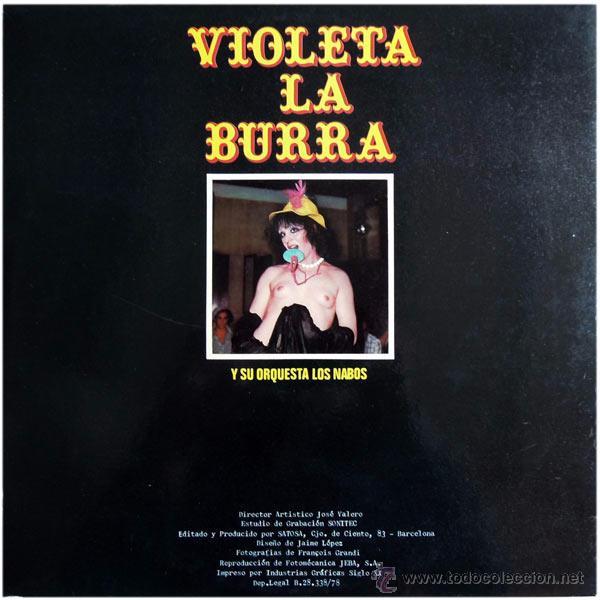 Discos de vinilo: Violeta La Burra Y Orquesta Los Nabos - LP Spain 1978 - Quality DQ 2004 - Foto 2 - 50058715