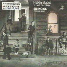 Discos de vinilo: RUBEN BLADES SG ELEKTRA 1985 SUEÑOS (+ LINDA RONDSTADT)/ LA CANCION DEL FINAL DEL MUNDO LATIN SALSA. Lote 50059509