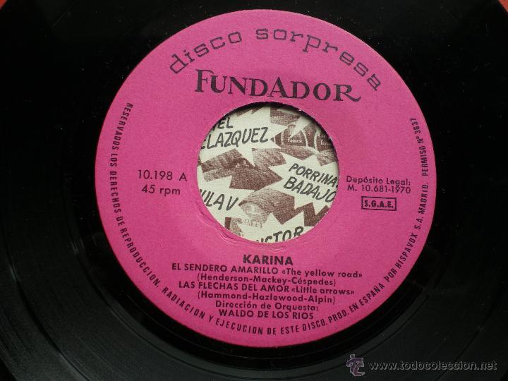 FUNDADOR EP KARINA 1970 VER FOTOS TITULOS PEPETO (Música - Discos de Vinilo - EPs - Solistas Españoles de los 70 a la actualidad)