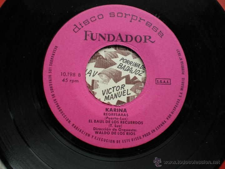Discos de vinilo: FUNDADOR EP KARINA 1970 VER FOTOS TITULOS PEPETO - Foto 2 - 50059523