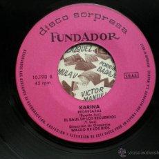Discos de vinilo: FUNDADOR EP KARINA 1970 VER FOTOS TITULOS PEPETO. Lote 50059583