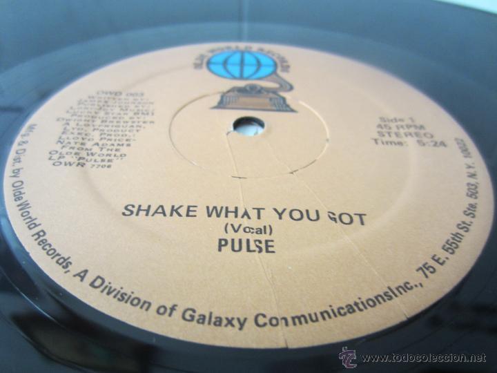 Discos de vinilo: PULSE - SHAKE WHAT YOU GOT (2 VERSIONES) 1978 USA MAXI SINGLE - Foto 3 - 48166312