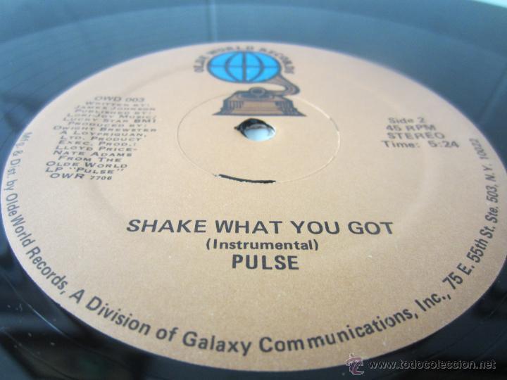 Discos de vinilo: PULSE - SHAKE WHAT YOU GOT (2 VERSIONES) 1978 USA MAXI SINGLE - Foto 4 - 48166312