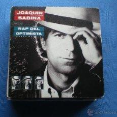 Discos de vinilo: JOAQUIN SABINA RAP DEL OPTIMISTA SINGLE SPAIN 1989 PDELUXE. Lote 50064252