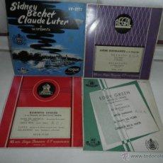 Discos de vinilo: LOTE DE 4 SINGLES , AÑOS 50 , EDDY GREEN,ANDRE KOSTELANETZ , SIDNEY BECCHET , ROBERTO INGLEZ. Lote 50068377