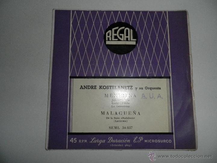 Discos de vinilo: LOTE DE 4 SINGLES , AÑOS 50 , EDDY GREEN,ANDRE KOSTELANETZ , SIDNEY BECCHET , ROBERTO INGLEZ - Foto 4 - 50068377
