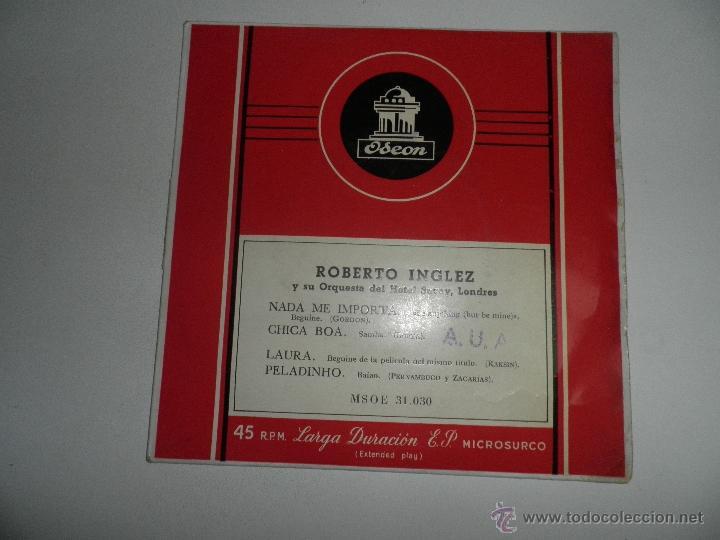 Discos de vinilo: LOTE DE 4 SINGLES , AÑOS 50 , EDDY GREEN,ANDRE KOSTELANETZ , SIDNEY BECCHET , ROBERTO INGLEZ - Foto 6 - 50068377