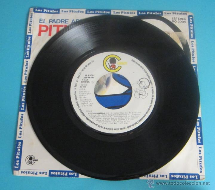 Discos de vinilo: EL PADRE ABRAHAM Y SUS PITUFOS. VEO, VEO. PITUFO - BARBARROJA - Foto 4 - 50071914
