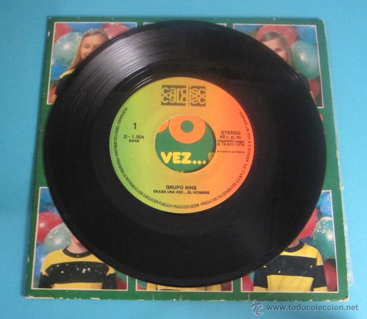 Discos de vinilo: GRUPO NINS. ERASE UNA VEZ...EL HOMBRE. BAILA CON EL HULA-HOOP - Foto 3 - 50071926