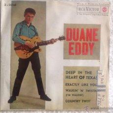 Discos de vinilo: DUANE EDDY EP DEEP IN THE HEART OF TEXAS+3 TEMAS. Lote 50074398