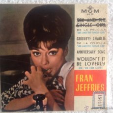 Discos de vinilo: FRAN JEFFRIES EP SEX AND THE SINGLE GIRL + 3 TEMAS. Lote 50075346