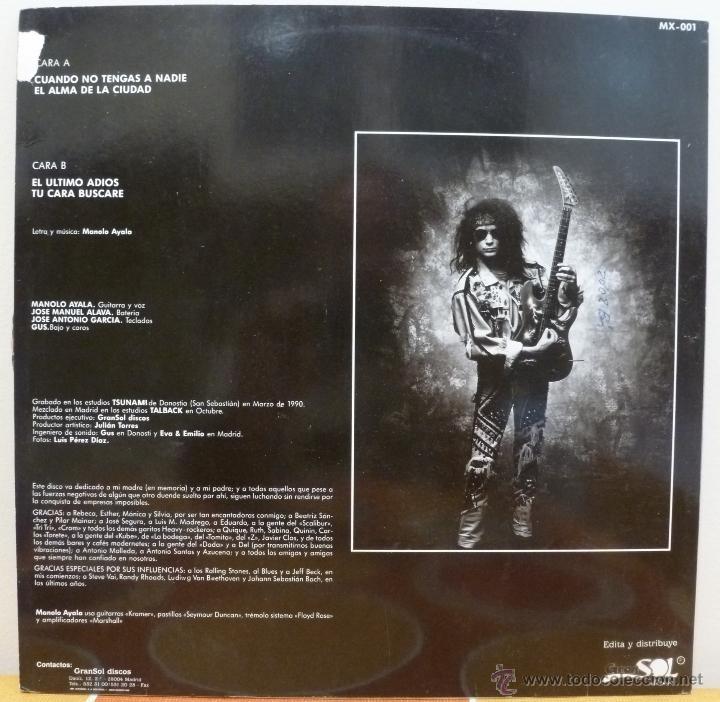 Discos de vinilo: MANOLO AYALA (MAXISINGLE PROMOCIONAL GRAN SOL DISCOS 1990 SPAIN) - Foto 2 - 50075503