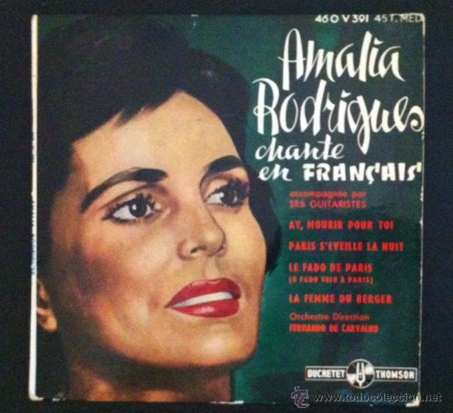 AMALIA RODRIGUES CHANTE EN FRANÇAIS (Música - Discos de Vinilo - EPs - Otros estilos)