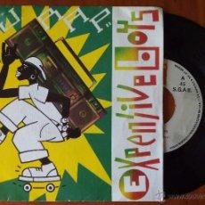 Discos de vinilo: EXPENSIVE BOYS, D.J. RAP (BLANCO Y NEGRO 1987) SINGLE PROMOCIONAL ESPAÑA. Lote 178874225