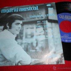 Discos de vinilo: ENRIQUE LERIN ME VOY/VENDO LUNA/MI MUJER SE VA/AUTOBUS Nº10 EP 1970 CALANDRIA PROMO ANTOLIANO SEGALI. Lote 50215121