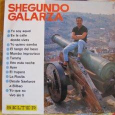 Discos de vinilo: LP - SHEGUNDO GALARZA - MISMO TITULO (SPAIN, DISCOS BELTER 1966). Lote 50088431