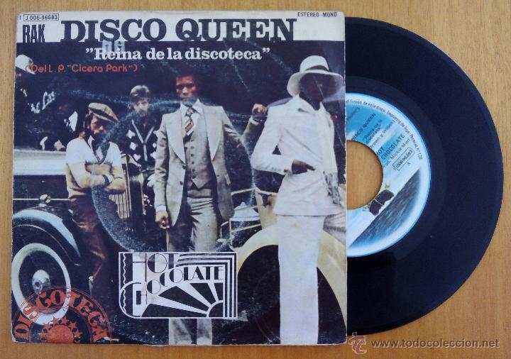 HOT CHOCOLATE, DISCO QUEEN REINA DE LA DISCOTECA (EMI 1975) SINGLE - CICERO PARK YOU'RE NATURAL HIGH (Música - Discos - Singles Vinilo - Funk, Soul y Black Music)