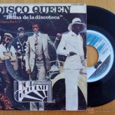 Discos de vinilo: HOT CHOCOLATE, DISCO QUEEN REINA DE LA DISCOTECA (EMI 1975) SINGLE - CICERO PARK YOU'RE NATURAL HIGH. Lote 178874265