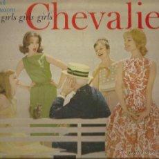 Discos de vinilo: LP-MAURICE CHEVALIER THANK HEAVEN FOR GIRLS GIRLS GIRLS MGM 3835 USA 1960. Lote 50101421