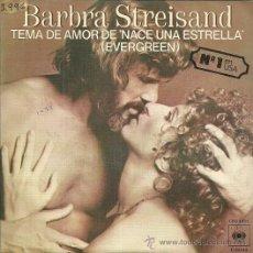 Discos de vinilo: BARBRA STREISAND SINGLE SELLO CBS AÑO 1976 EDITADO EN ESPAÑA . Lote 50102587