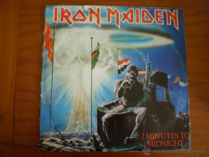 IRON MAIDEN. TWO MINUTES TO MIDNIGHT. ORIGINAL DE 1984. (Música - Discos - Singles Vinilo - Heavy - Metal)