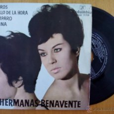 Discos de vinilo: HERMANAS BENAVENTE, JILGUEROS +3 (COLUMBIA 1962) SINGLE EP TANGUILLO AMPARO ZACATINA. Lote 50106640