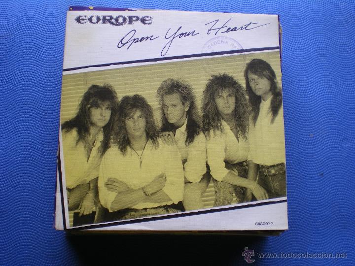 EUROPE OPEN YOUR HEART SINGLE SPAIN 1988 PROMO PDELUXE (Música - Discos - Singles Vinilo - Heavy - Metal)