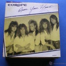 Discos de vinilo: EUROPE OPEN YOUR HEART SINGLE SPAIN 1988 PROMO PDELUXE. Lote 50107719