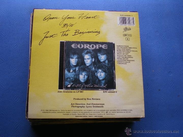 Discos de vinilo: EUROPE OPEN YOUR HEART SINGLE SPAIN 1988 PROMO PDELUXE - Foto 2 - 50107719