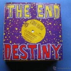 Discos de vinilo: THE END DESTINY SINGLE UK 1991 CON HOJA PROMO PDELUXE. Lote 50107823