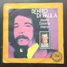 Discos de vinilo: SINGLE BENITO DI PAULA - MARIA BAIANA MARIA - VOU PRO MAR - CARNABY 1977.. Lote 50108784