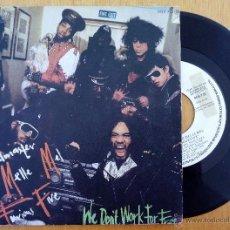Discos de vinilo: GRANDMASTER MELLE MEL & FURIOUS FIVE, WE DON'T WORK FOR FREE (ZAF 1984) SINGLE PROMOCIONAL ESPAÑA. Lote 178874336