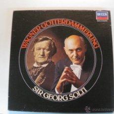 Discos de vinilo: WAGNER. GOTTERDAMMERUNG. SIR GEORGE SOLTI. BIRGIT NILSSON. WOLFGANG WINDGASSEN.5 LP'S DECCA.. Lote 50115374