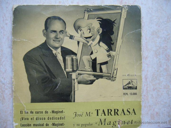JOSE Mª TARRASA Y SU POPULAR MAGINET (Música - Discos de Vinilo - EPs - Solistas Españoles de los 50 y 60)
