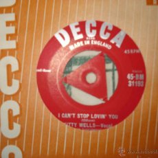 Discos de vinilo: KITTY WELLS-I CAN'T STOP LOVING YOU / SHE'S NO ANGEL 45 1958 DECCA UK. Lote 50124195