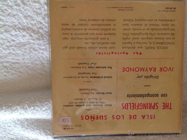 Discos de vinilo: THE SPRINGFIELDS Ep Silver threads and golden needles + 3 temas - Foto 2 - 50125951