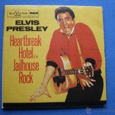 Discos de vinilo: ELVIS PRESLEY HEARTBREAK HOTEL SINGLE SPAIN 1985 PDELUXE. Lote 50127169