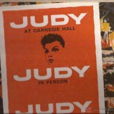 Discos de vinilo: LP-JUDY GARLAND AT THE CARNEGIE HALL CAPITOL 1569 USA 1961 DOBLE LP. Lote 50130220