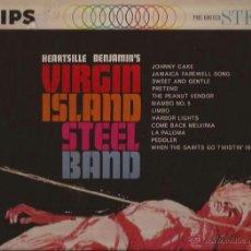 Discos de vinilo: LP-HEARTSVILLE BENJAMIN´S VIRGIN ISLAND SYEEL BAND PHILIPS 600015 USA 196?? CALYPSO. Lote 50130386