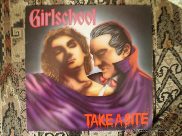 LP. GIRLSCHOOL. TAKE A BITE. ORIGINAL 1988. MUY BUENA CONSERVACION (Música - Discos - LP Vinilo - Heavy - Metal)