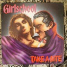 Discos de vinilo: LP. GIRLSCHOOL. TAKE A BITE. ORIGINAL 1988. MUY BUENA CONSERVACION. Lote 50132640