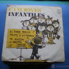 Discos de vinilo: EP CANCIONES INFANTILES EL BURRO PERICO +3. Lote 50137345