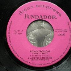Discos de vinilo: FUNDADOR EP RITMO TROPICAL CACHO VALDEZ ... 1968 VER FOTOS TITULOS. Lote 50143851
