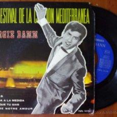 Discos de vinilo: GEORGIE DANN, MIENTRAS +3 (LA VOZ 1964) SINGLE EP VI FESTIVAL CANCION MEDITERRANEA - MUCHACHA A LA. Lote 50145470