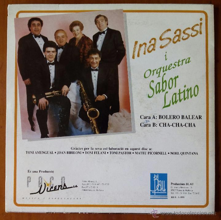Discos de vinilo: INA SASSI, BOLERO BALEAR (BLAU 1992) SINGLE - JOAN BIBILONI - TONI PASTOR - FELANI - SABOR LATINO - Foto 2 - 50145957