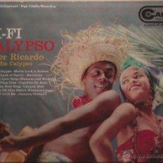 Discos de vinilo: LP-PETER RICARDO & HIS CALYPSO HI FI CALYPSO RCA CAMDEN 393 USA 1957. Lote 50147105