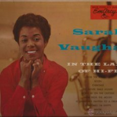 Discos de vinilo: LP-SARAH VAUGHAN IN THE LAND OF HI FI MERCURY EMARCY 36058 USA 1956 JAZZ CANNONBALL ADDERLEY. Lote 50147284