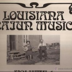 Discos de vinilo: LP-LOUISIANA CAJUN MUSIC VOL.1 FIRST RECORDINGS THE 1920´S ARHOOLIE 19028 GATEFOLD. Lote 50150322